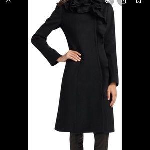 Elie Tahari Black/dark grey coat